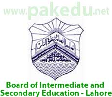 BISE-L, BISE Lahore, Board of Intermediate and Secondary Education Lahore