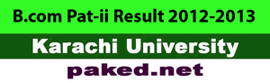 B.Com Part i part-ii result 2012-2013 Regular Karachi University announced Annual Examination