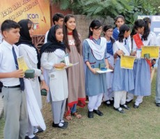Students art exhibition, talents of students in paintings and artwork  organised by superstore Ghouri's Icon