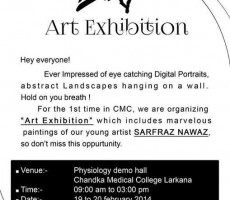 Art Exhibition Chandka Medical College-SMBBMU