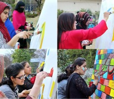 Canvas painting competition National Institute of Cultural Studies collecge university students